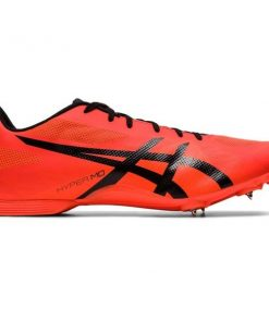 Asics Hyper MD 7 - Unisex Middle Distance Track Spikes - Flash Coral/Black