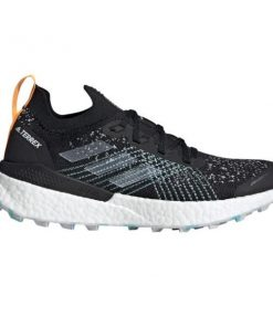 Adidas Terrex Two Ultra Parley - Womens Trail Running Shoes - Core Black/Dash Grey/Blue