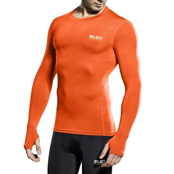 Select Profcare Mens Long Sleeve Compression Top - Orange