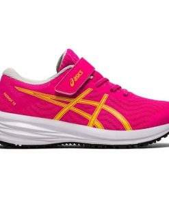 Asics Patriot 12 PS - Kids Running Shoes - Pink Glo/White