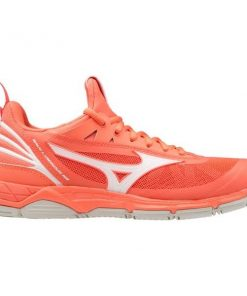 Mizuno Wave Luminous - Womens Netball Shoes - Living Coral/Snow White