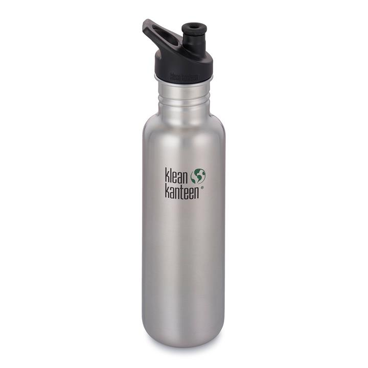 Klean Kanteen 27oz Classic Bottle Sport Cap - Brushed Stainless