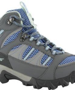 HI-TEC Bryce II Mid WP Womens Boots - Graphite/Cornflower/Sprout - Size 7