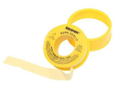 Outdoor Connection PTFE Thread Sealing Gas Tape - 12mm x 0.1mm x 10m - Yellow