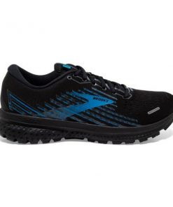 Brooks Ghost 13 GTX - Mens Running Shoes - Black/Grey/Blue