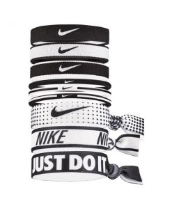 Nike Mixed Ponytail Holder - Assorted 9 Pack - Black/White