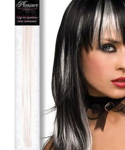 Pleasure Wigs White Coloured Clip-In Synthetic Hair Extension