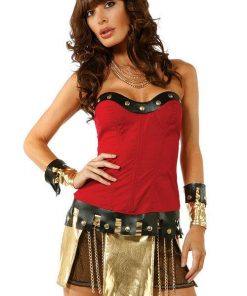 Forplay Lingerie 4 Pce Warrior Costume