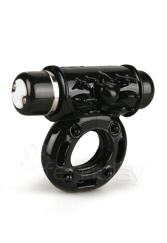 Nu Sensuelle - Rechargeable 7 Function Bullet Ring (Black)