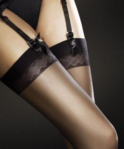 Fiore Romance Sheer Thigh Highs for Garters