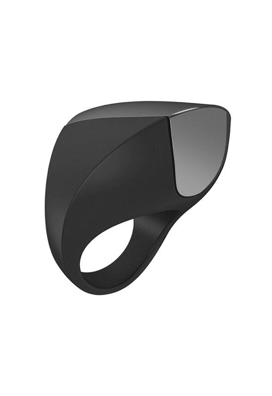 OVO - A1 Rechargeable Cock Ring (Black/Chrome)