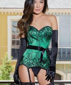 Coquette Envy Satin with Lace Corset