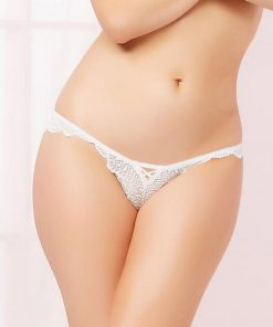 Seven Til Midnight White Floral Lace Panty