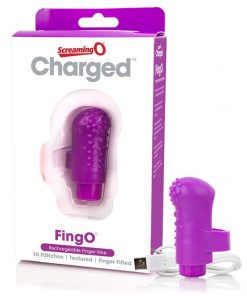 Charged - FingO Rechargeable Finger Vibe by Screaming O (Purple)