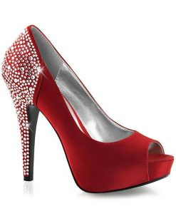 """Fabulicious by Pleaser 5"""" Heel Janet Glamour Red Pump"""