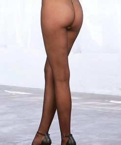 Dreamgirl Classic Black Pantyhose with Crotchless Design