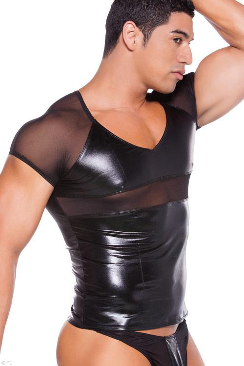 Allure Zeus Wet-Look T-Shirt