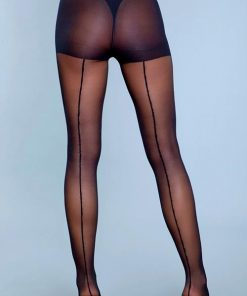 Be Wicked Walk Right Out Sheer Backseam Pantyhose