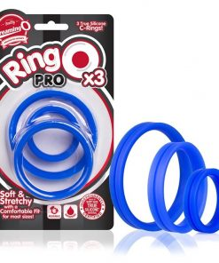 RingO Pro Silicone Cock Ring 3-Pack (Blue)