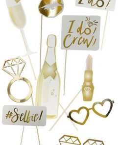 Love In Leather Hen's Night Photo Prop Set (10 Pce)