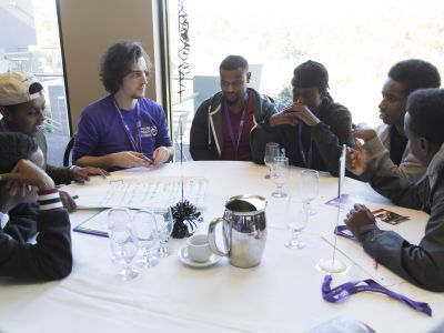 Group discussion at Youth Summit