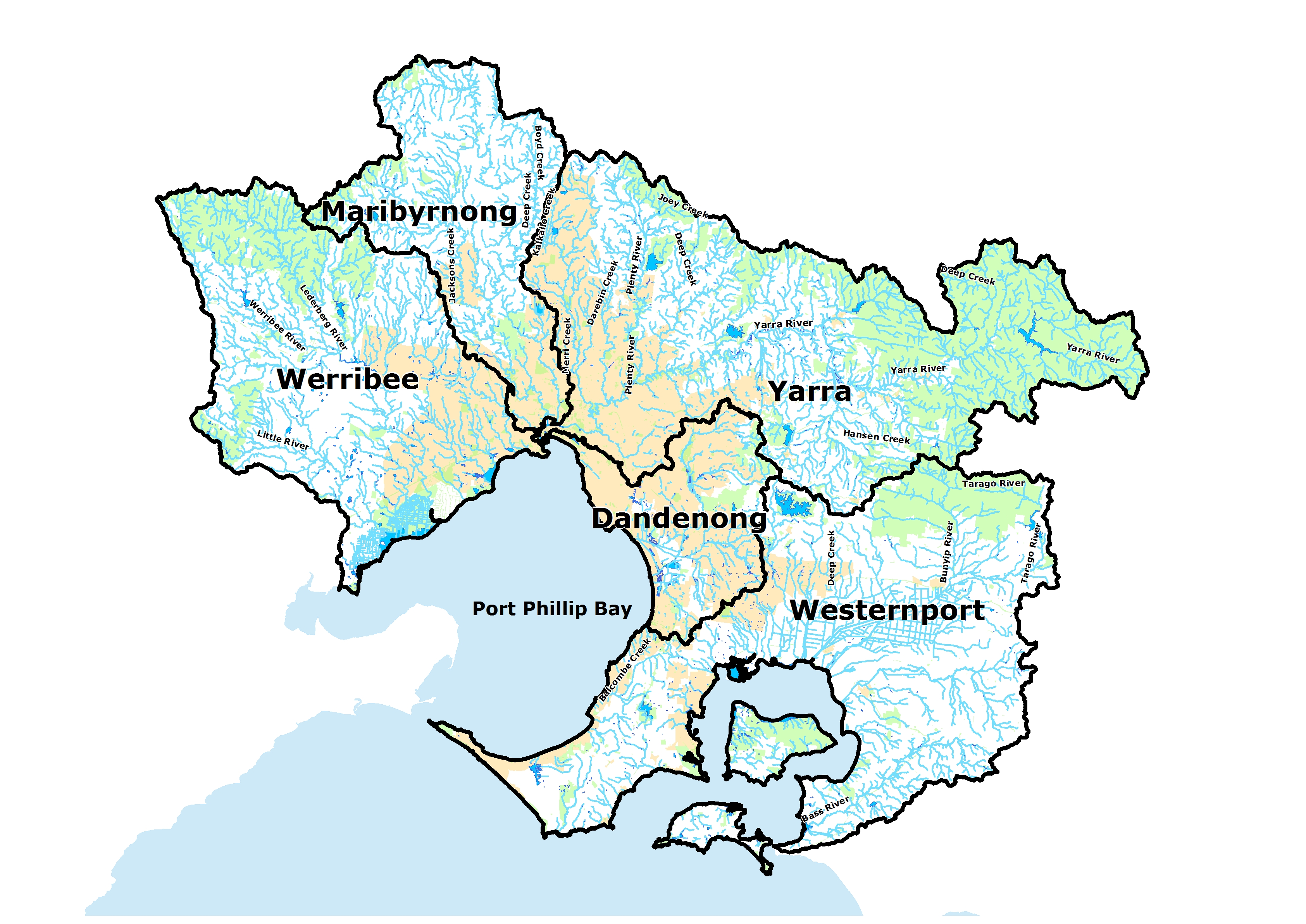 Greater Melbourne Region Map