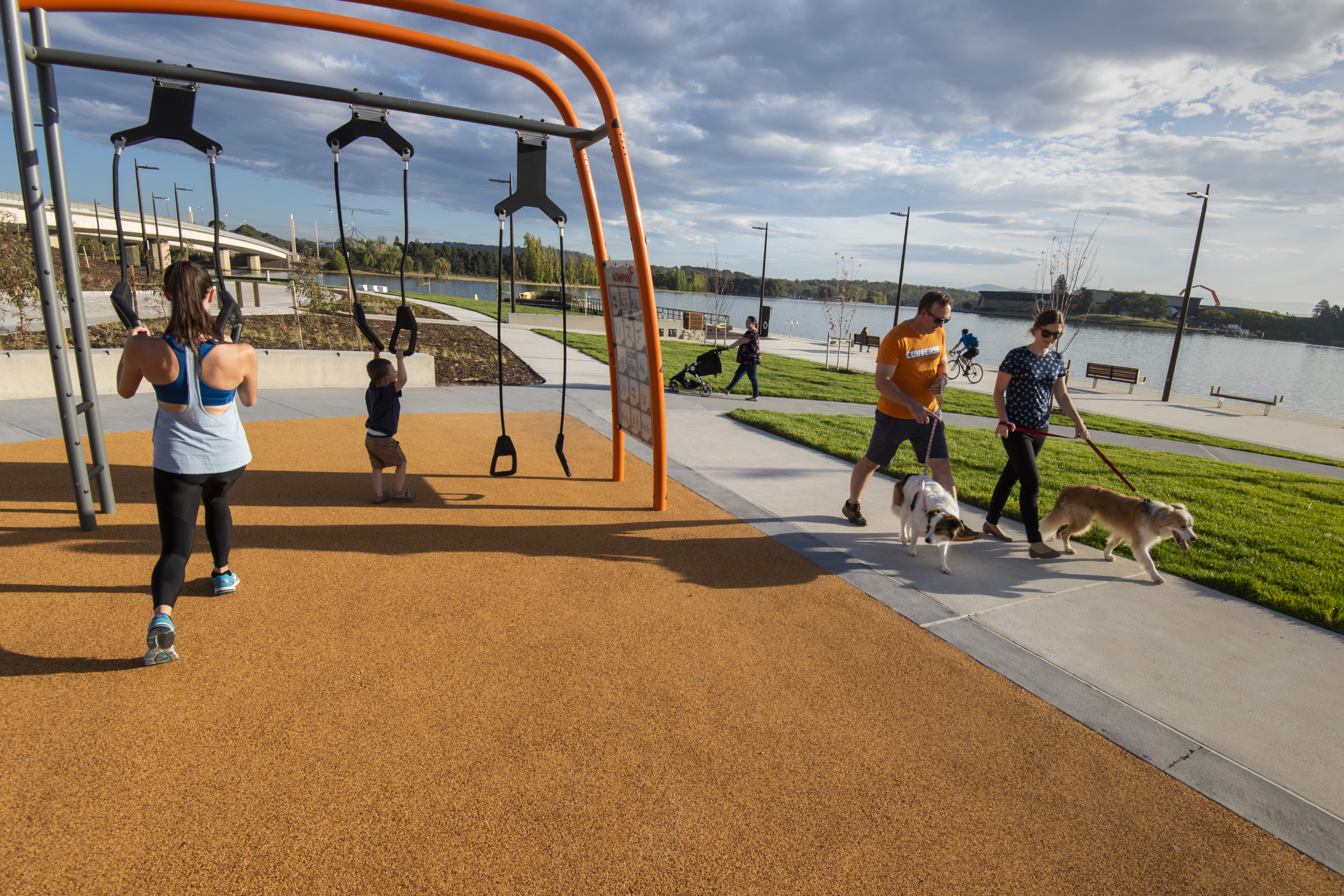 People exercising at the new henry rolland park