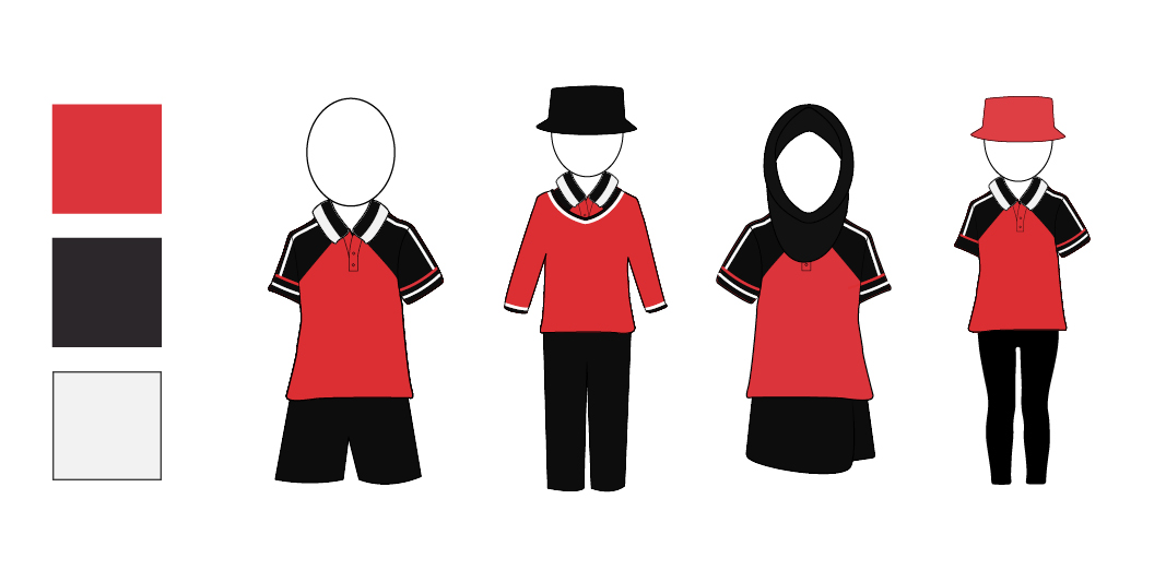 The red/black option for the uniform