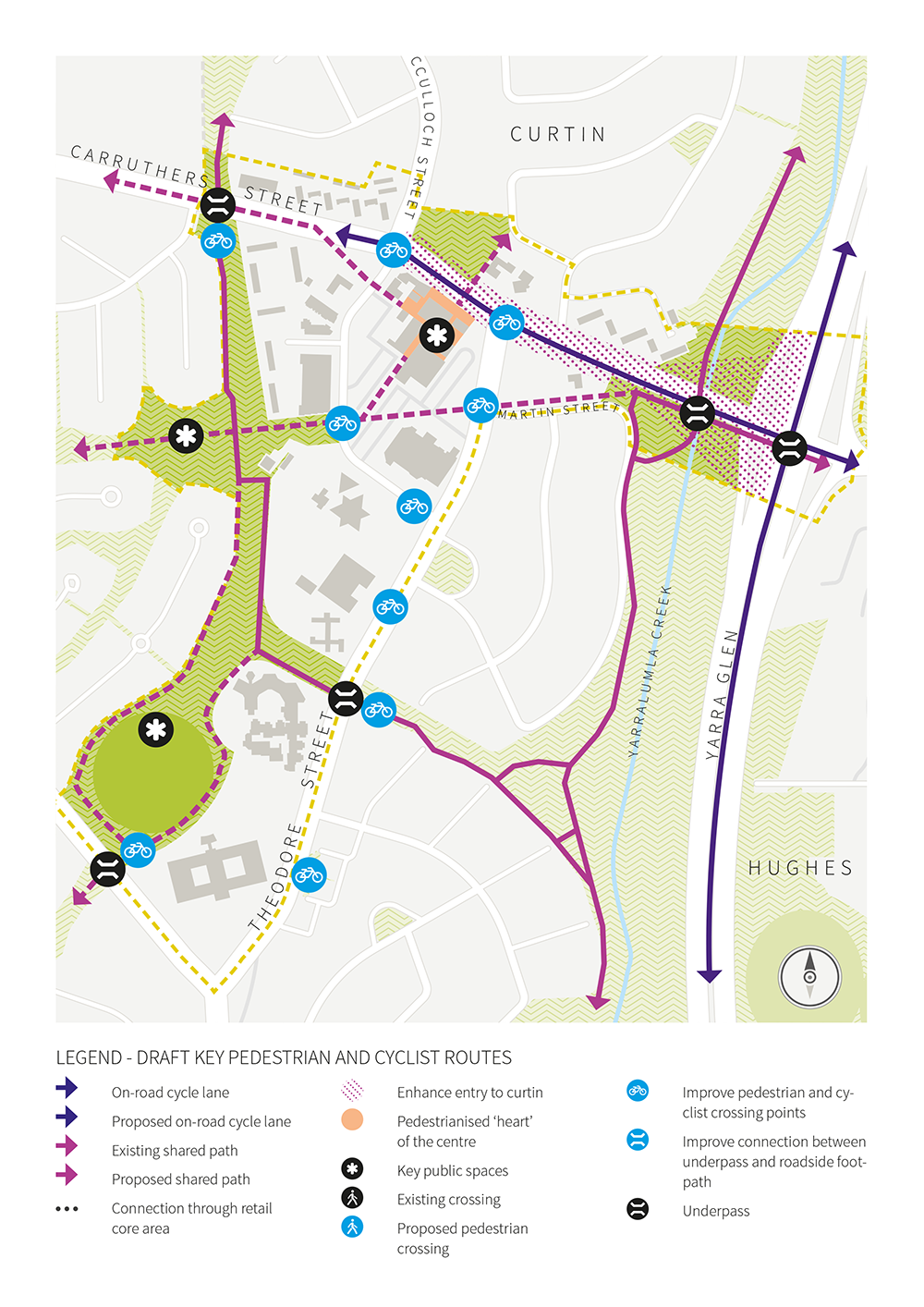 Previous Pedestrian and Cycle Routes