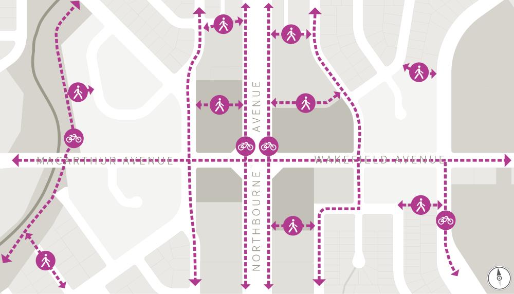 Macarthur Urban Village Pedestrian, Cycling and Active Travel routes