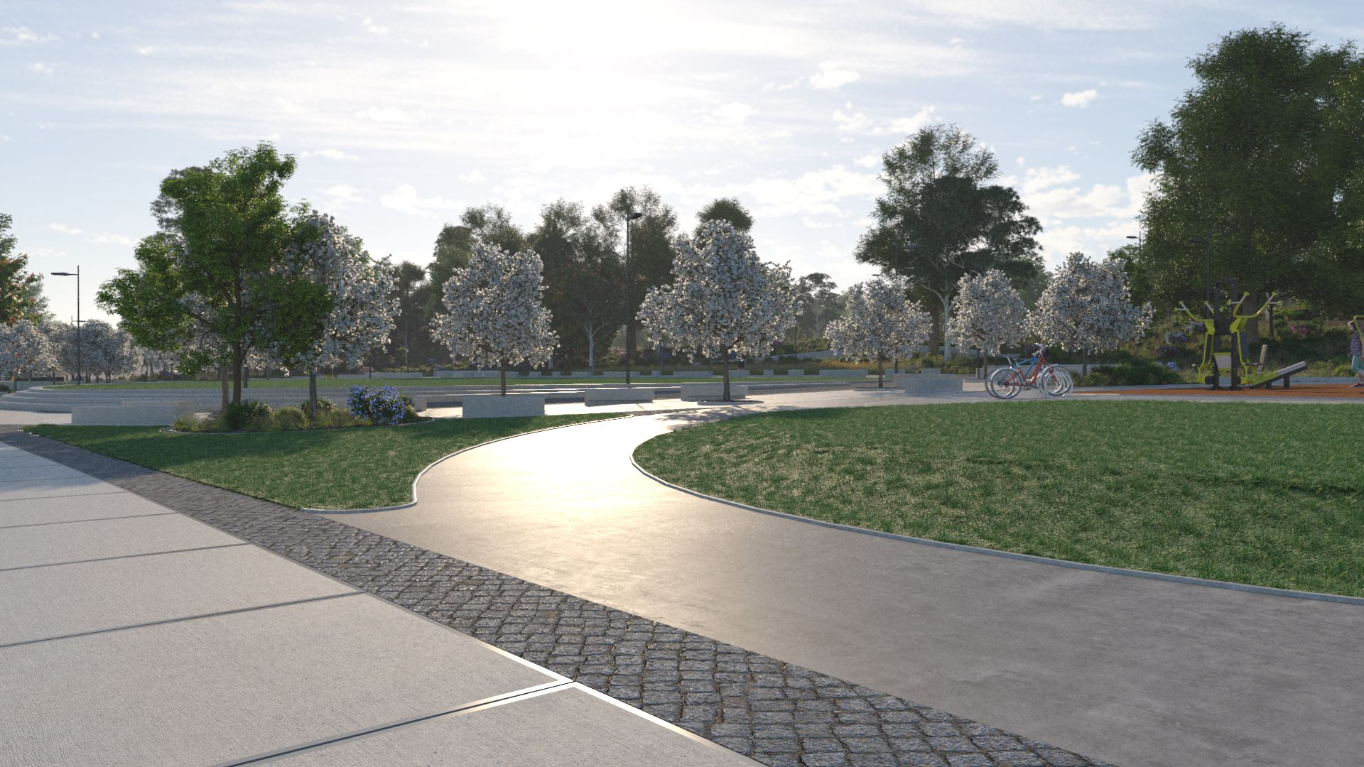 3D image of central park area