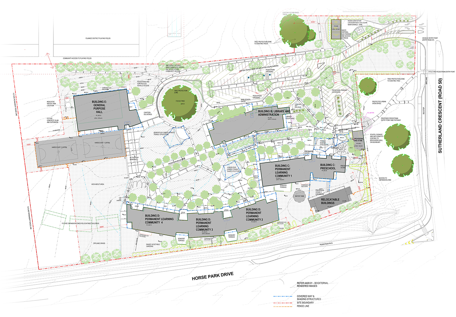 The masterplan for the new school