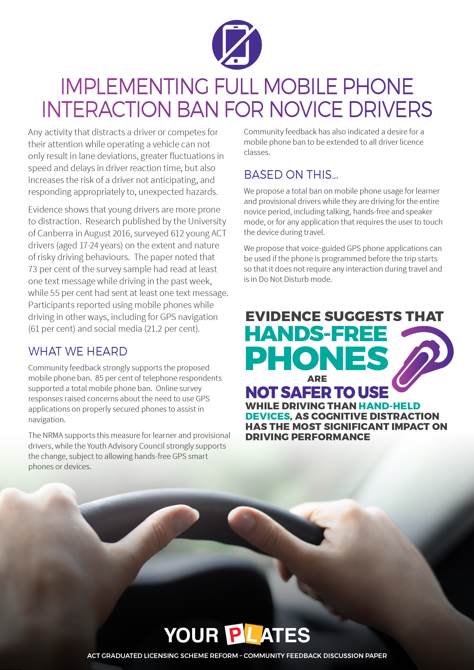 Implementing full mobile phone interaction ban for novice drivers