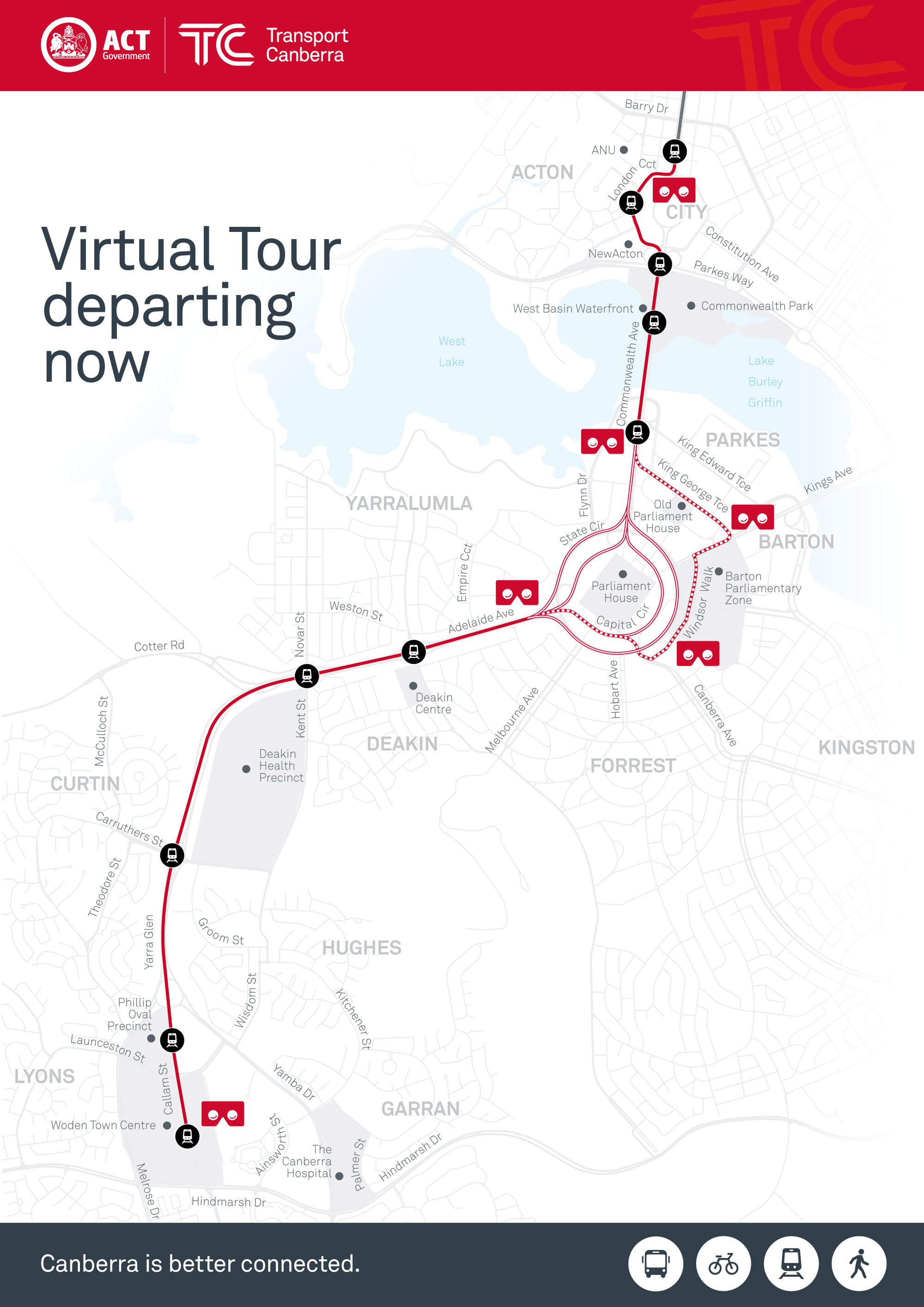 Virtual tour map and locations