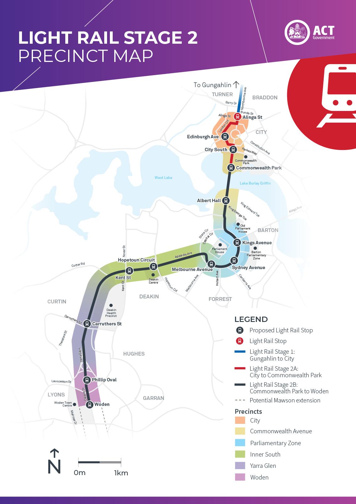 Light rail route
