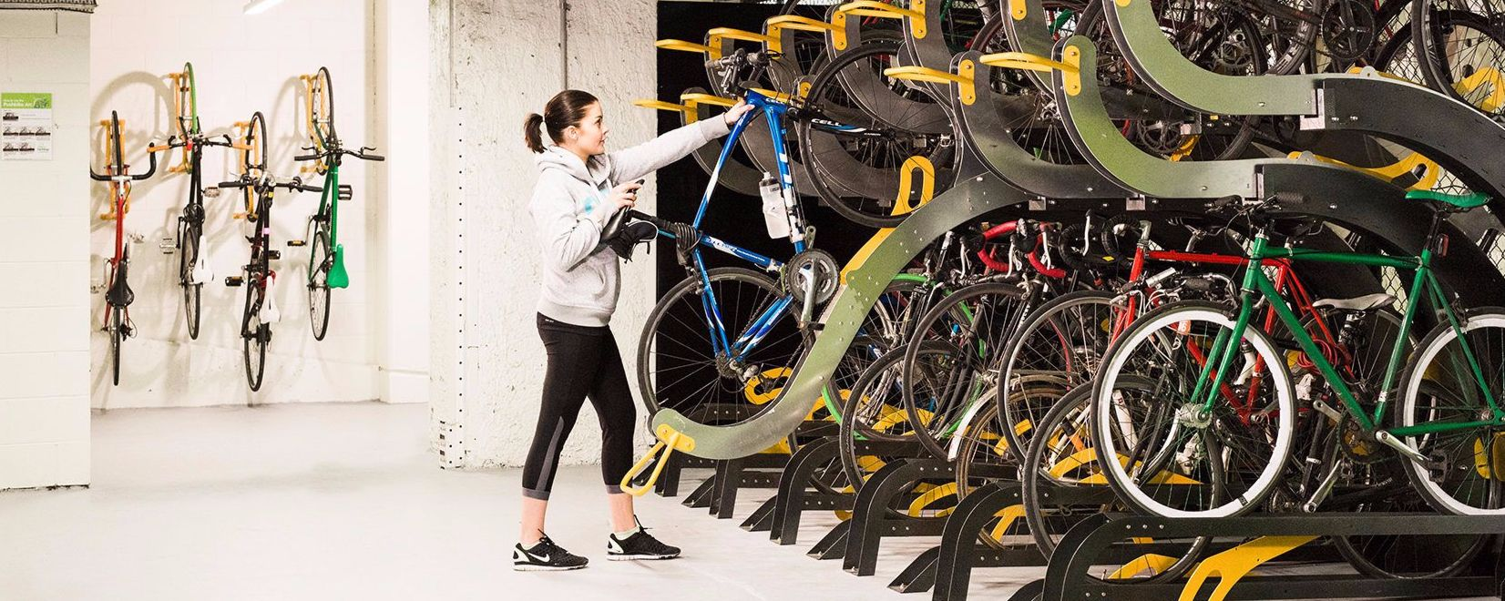 Workplace bike racks