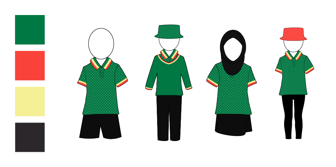 The green option for the uniform