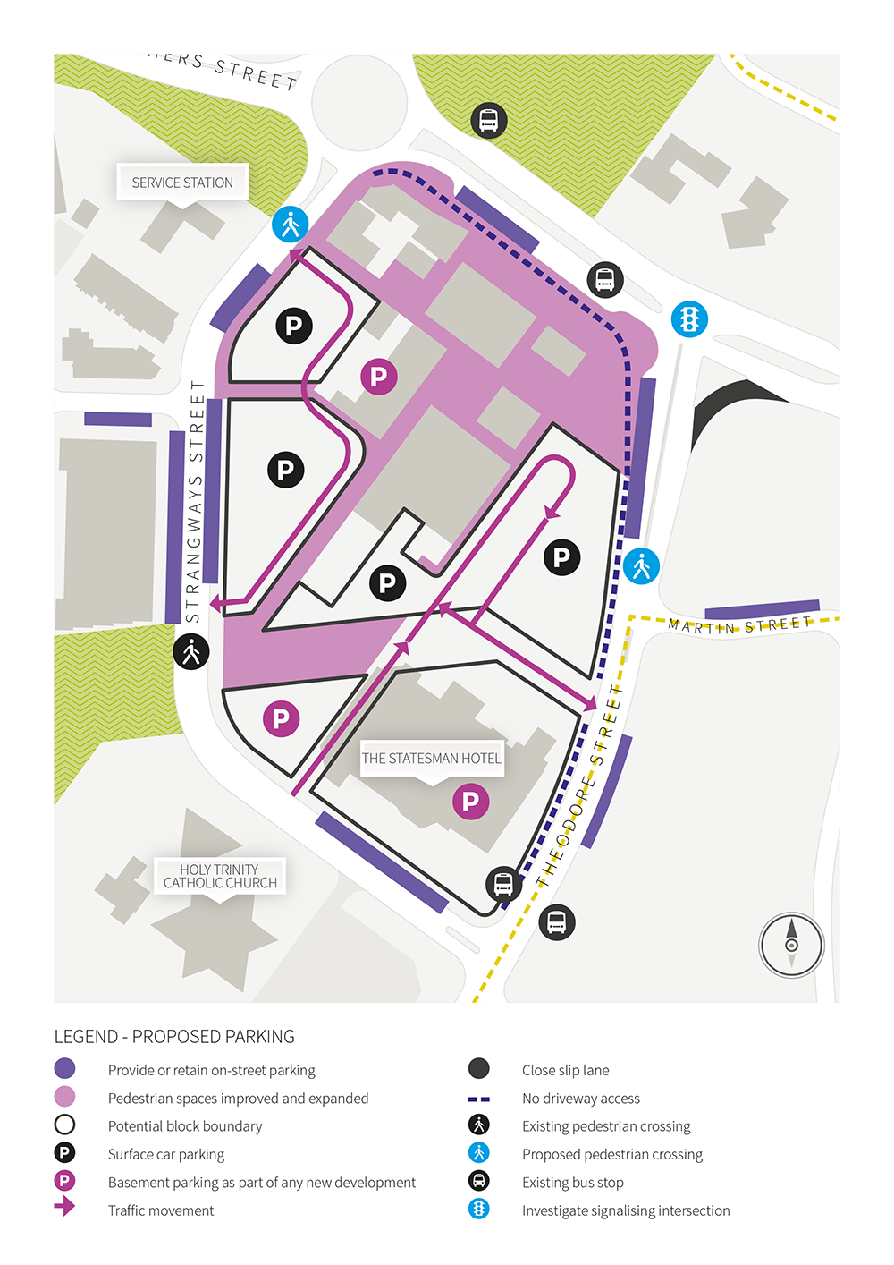 Revised Parking and Traffic Circulation
