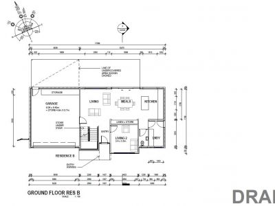 Residence B ground floor plans