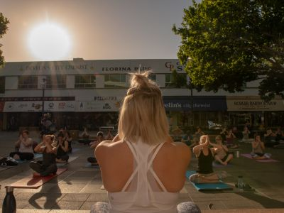 Yoga in Garema Place