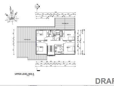 Residence A upper floor plans