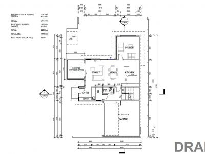 Residence A ground floor plans