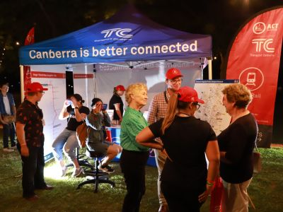 The Transport Canberra tent