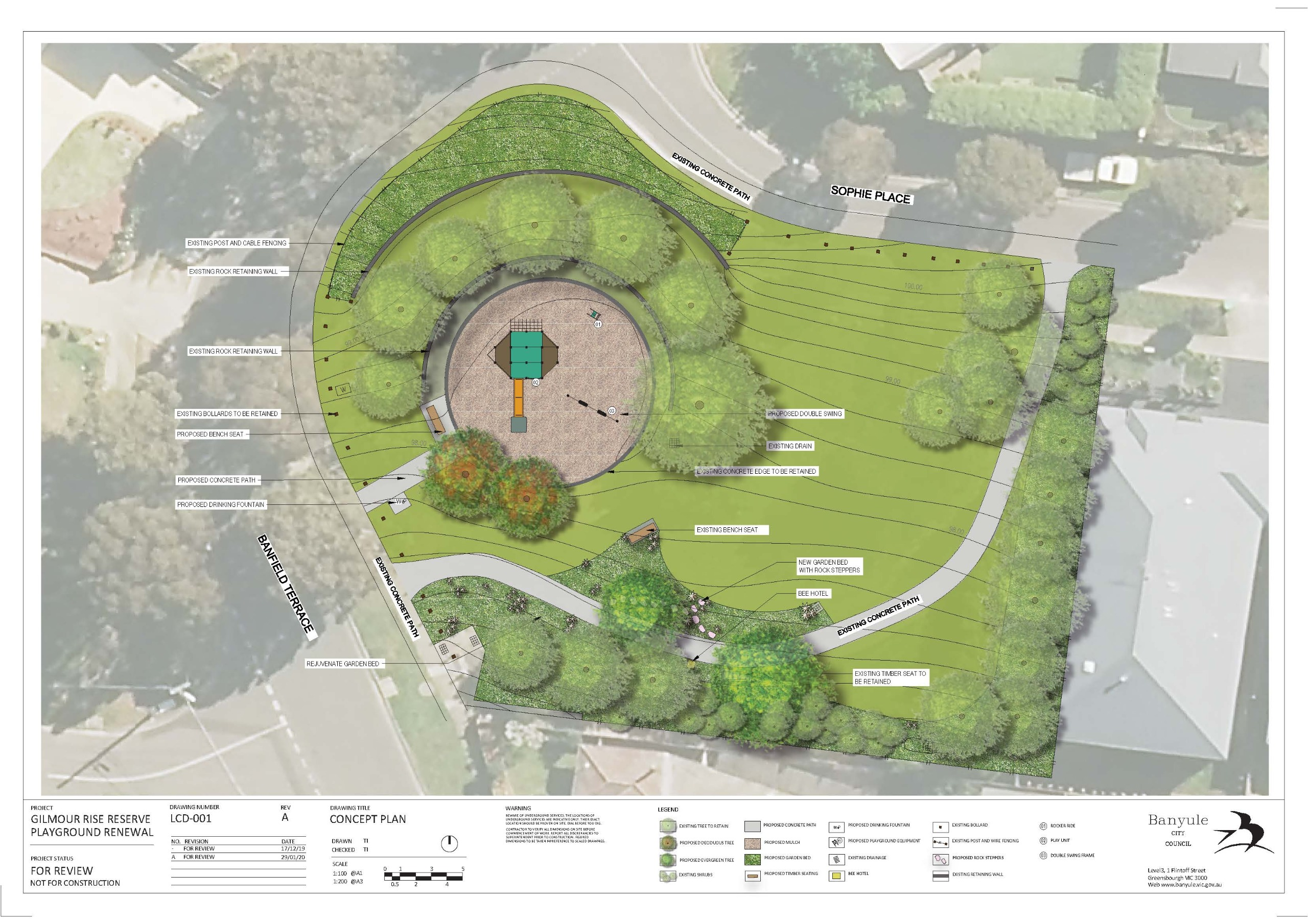 Gilmour Rise Reserve Playground - updated concept design plans