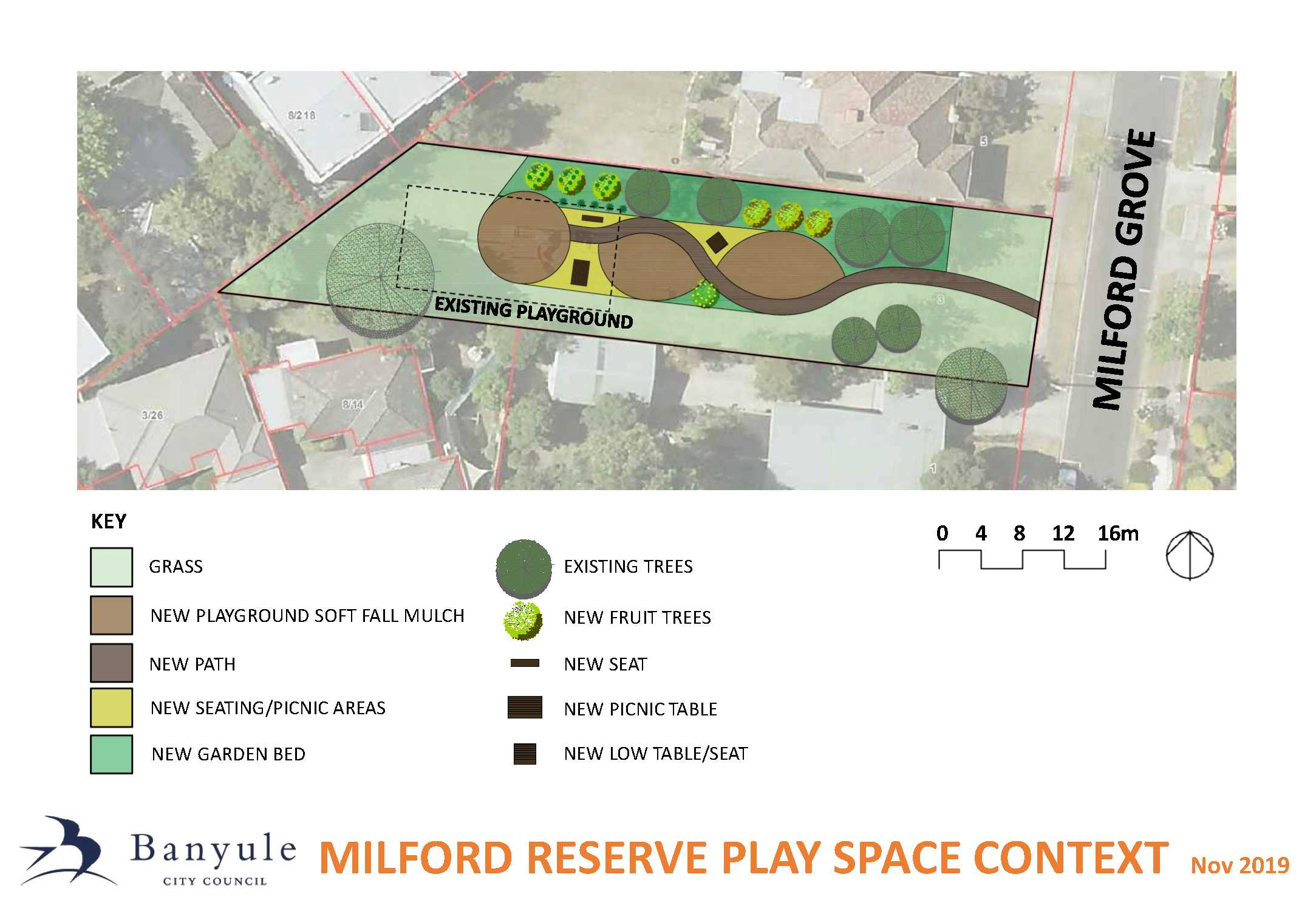 Milfred Reserve - Playground renewal context plan
