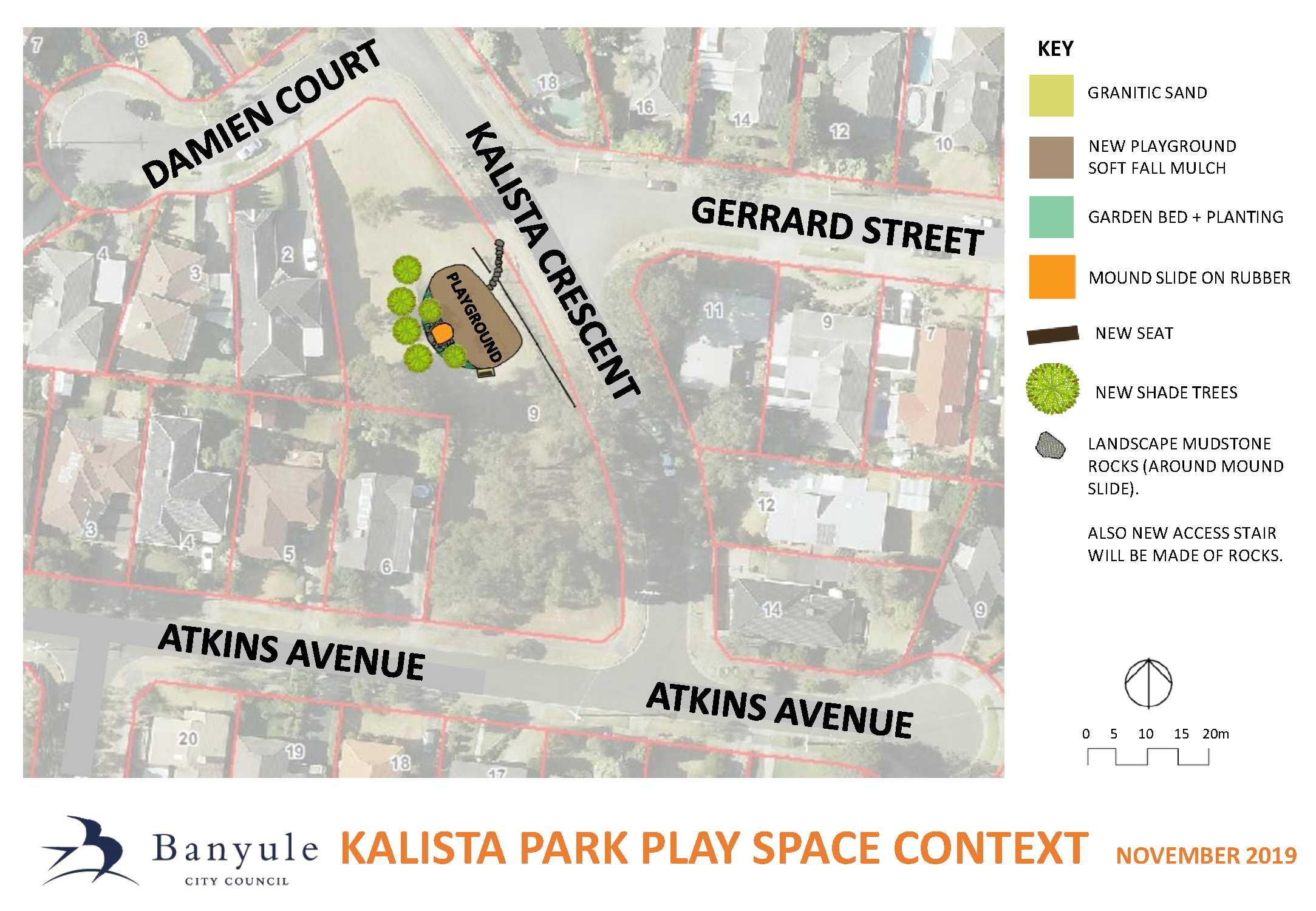Kalista Park playground context plan