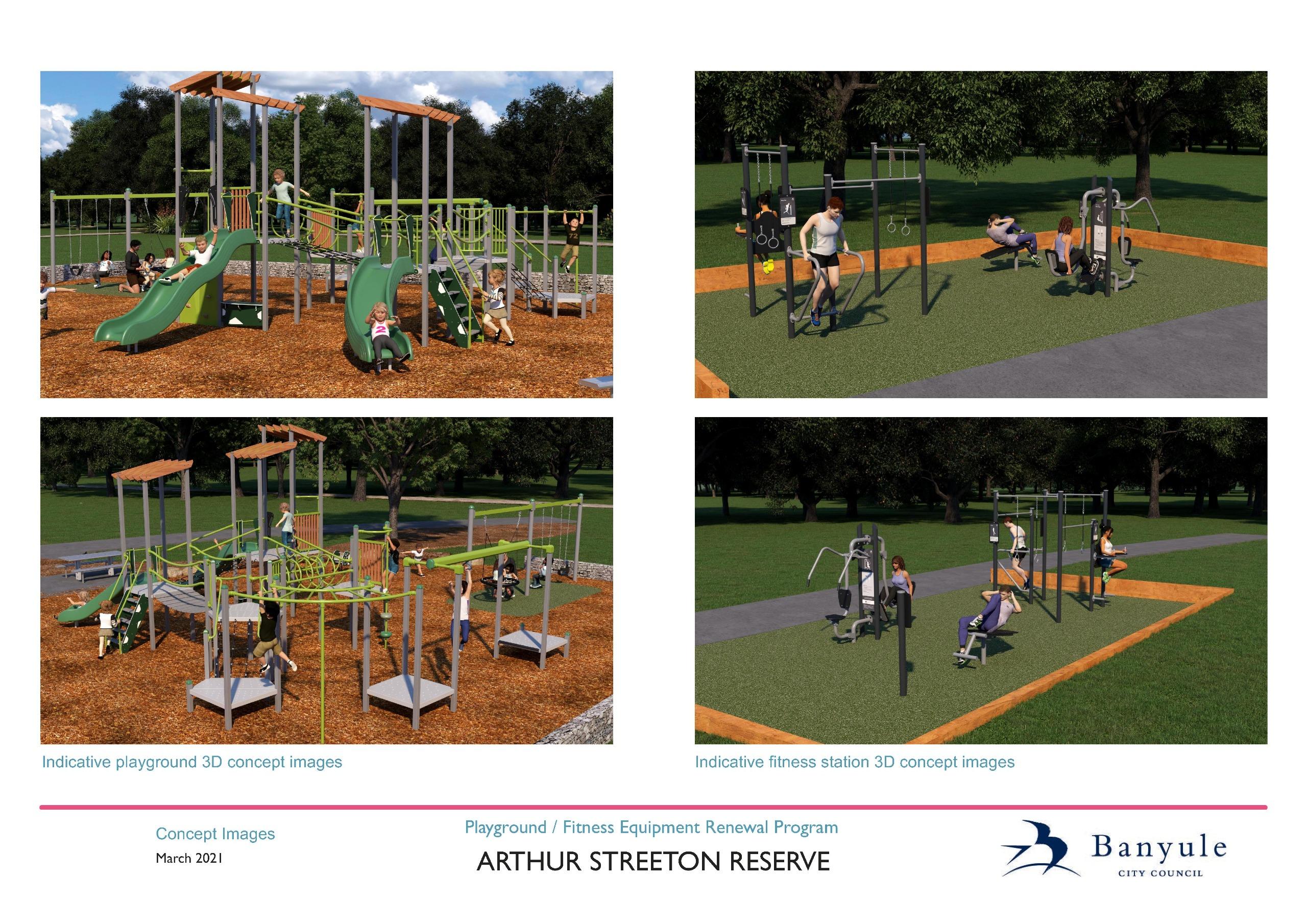 Arthur Streeton Reserve Concept Images