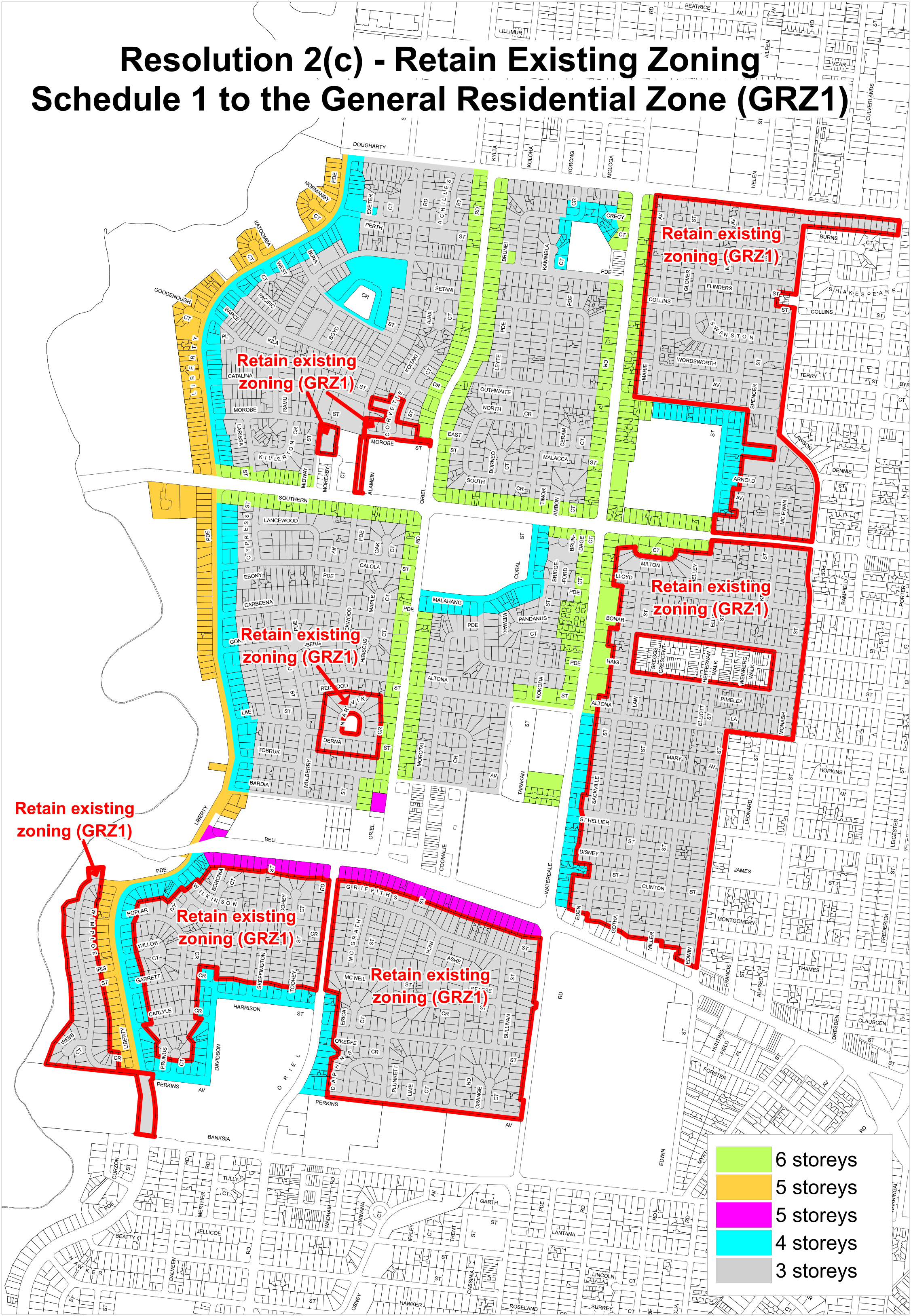 Map 1 - Retain Existing Zoning