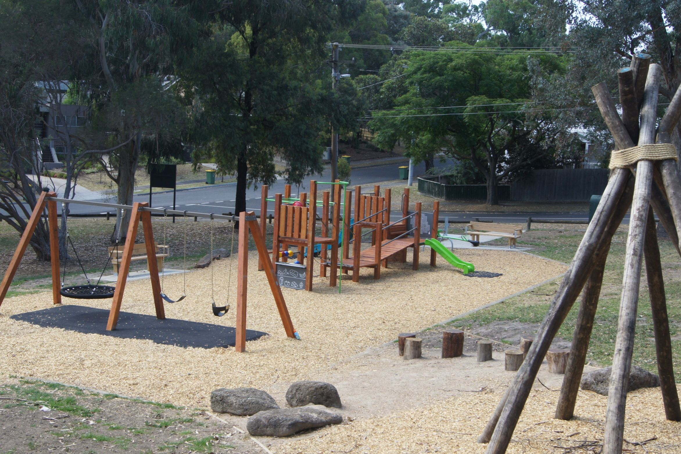 After: Image of playground at Woodlands Park after replacement
