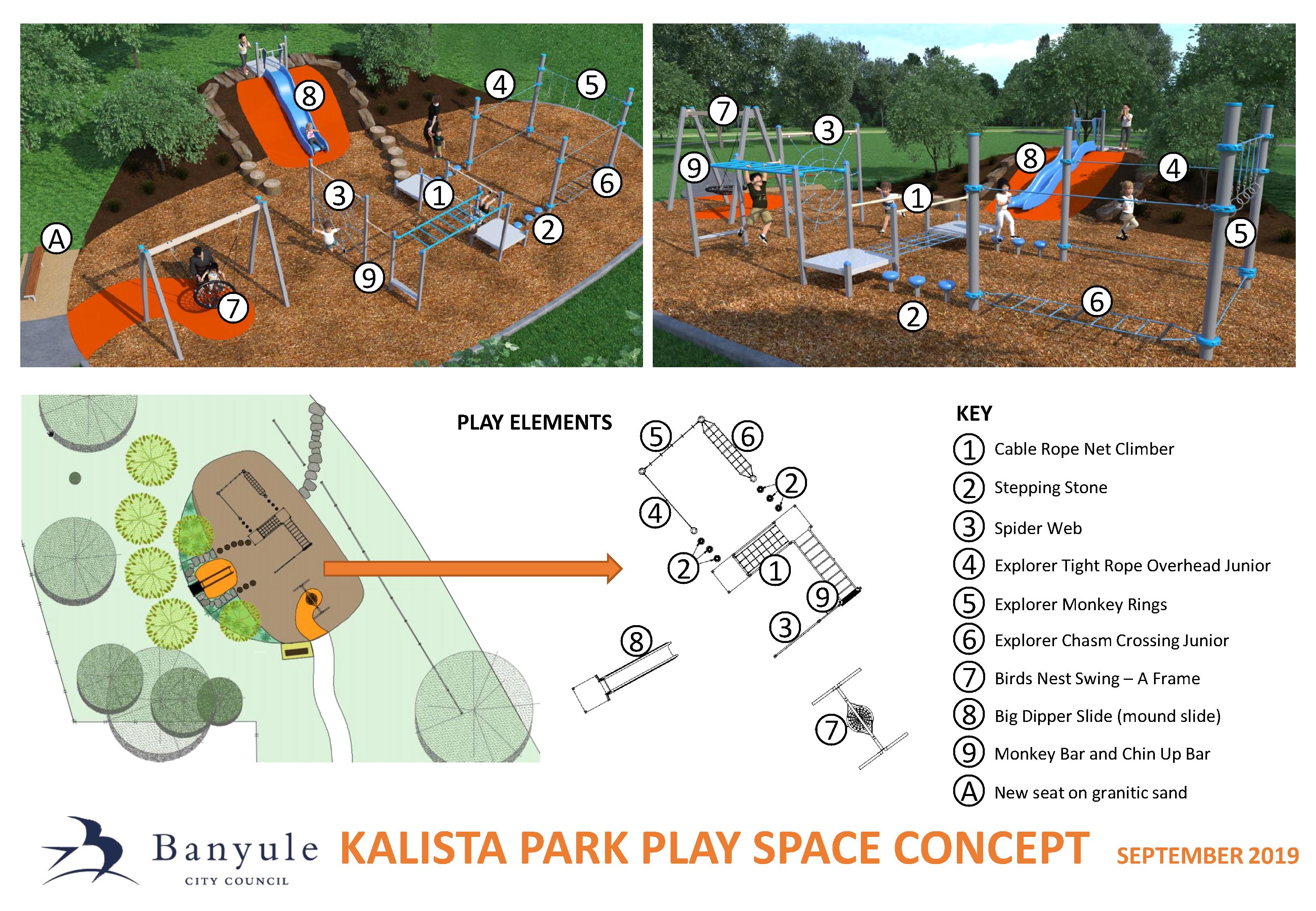 Kalista Park playground concept plan